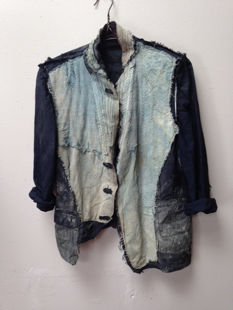 Indigo dyed ghost collection