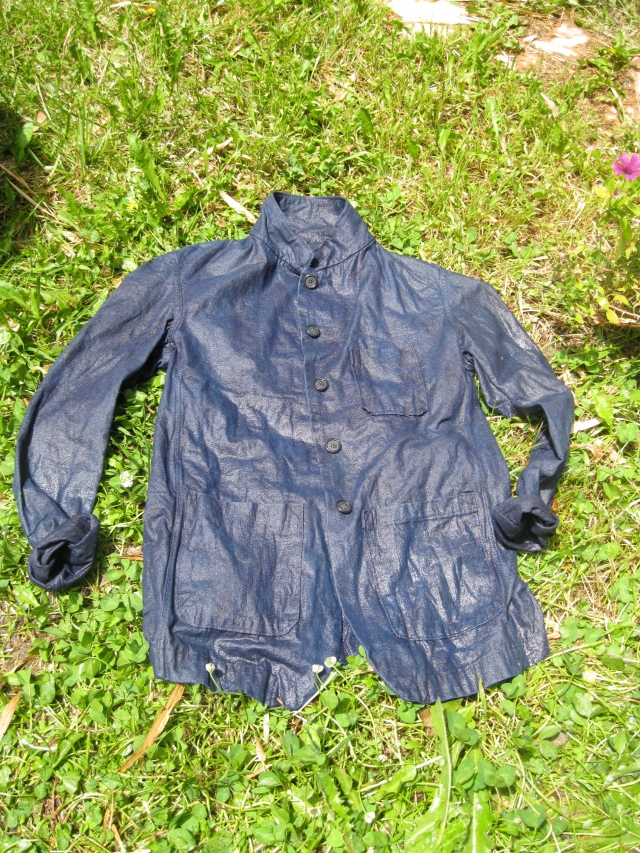 Recently dyed indigo jacket